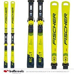Esquí Fischer RC4 WC CT M / O con fijaciones RC4 Z17 Freeflex