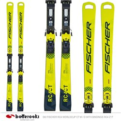 Ski Fischer RC4 WC CT M / O avec fixations RC4 Z17 Freeflex