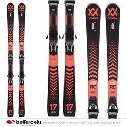 Völkl Racetiger RC ski with VMotion 12 GW bindings