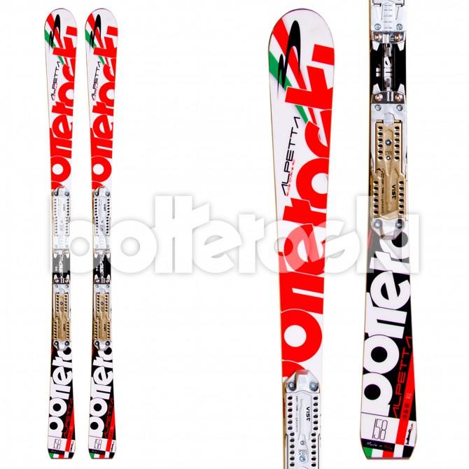 sci Bottero Ski Alpetta + attacchi V412 FRee LTD + piastra Vist Speed Look TT