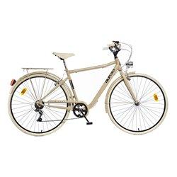 Bicicletta da passeggio da uomo Aurelia Street 28 cappuccino
