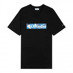 T-shirt Columbia M Rapid Ridge Black, White Fr