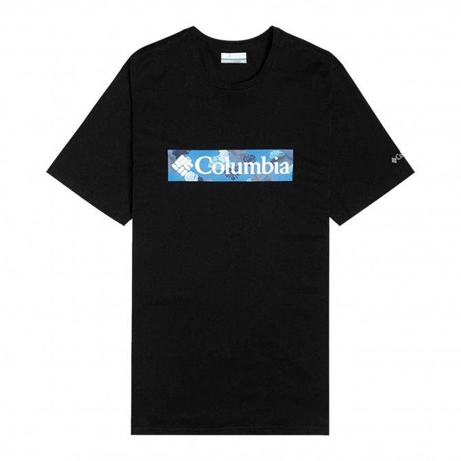 T-shirt Columbia M Rapid Ridge Black, White Fr