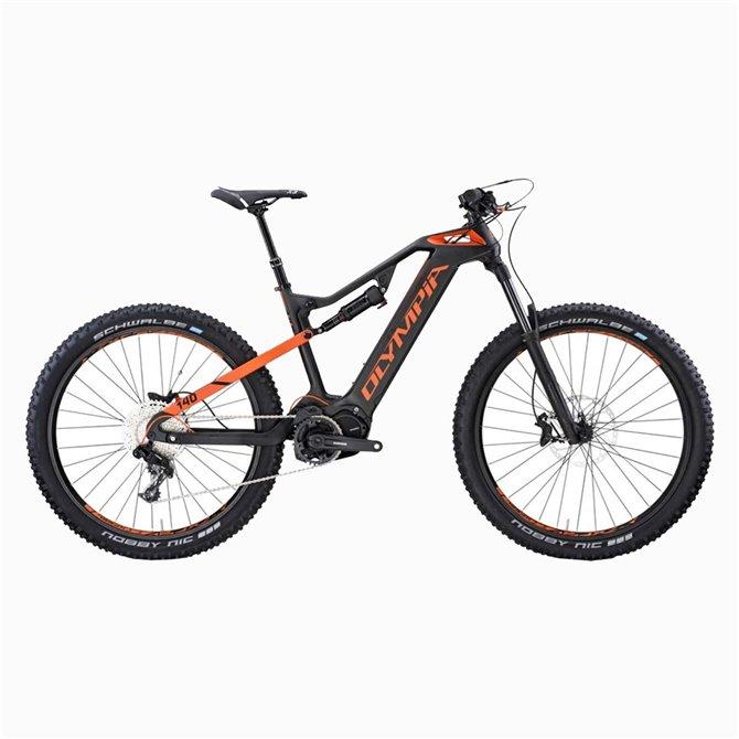 Bici elettrica Olympia E1-X Carbon 8.0 - Mountain bike a pedalata assistita modello 2020
