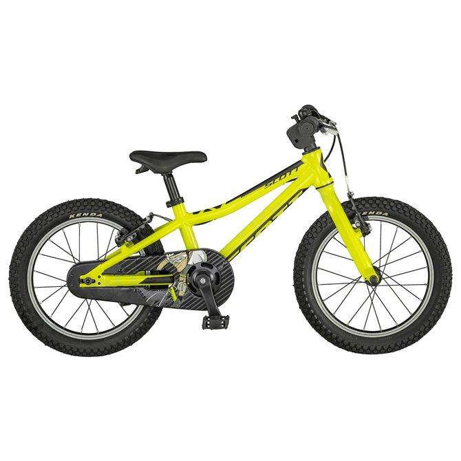 Bici da bambino Scott Scale 16 giallo fluo nero