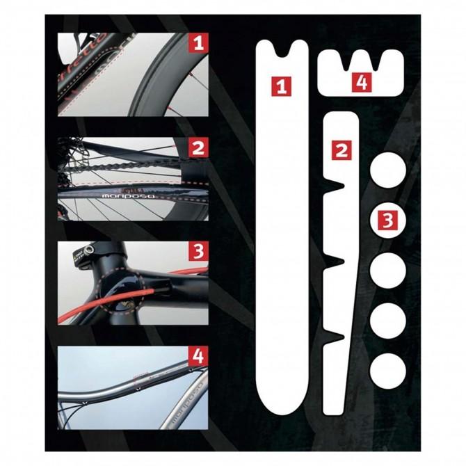 Pellicola di protezione Shelter Road per telaio da bici con elementi perforati