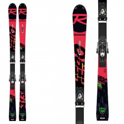 Sci Rossignol Hero Athlete 2021 FIS SL (R22) con attacchi Spx 15 Rockerace Black Icon