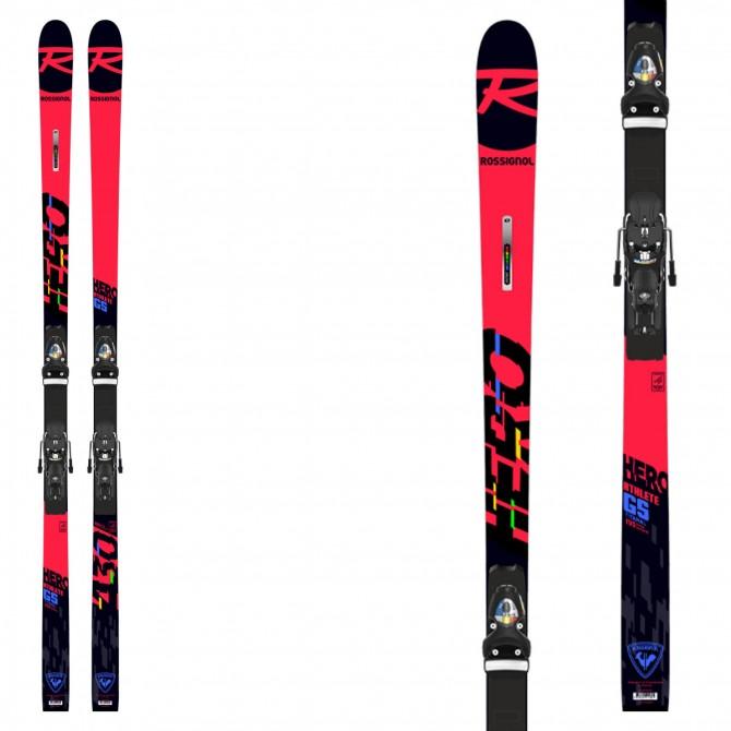Sci Rossignol Hero Athlete GS modello 2021 da slalom gigante con attacchi