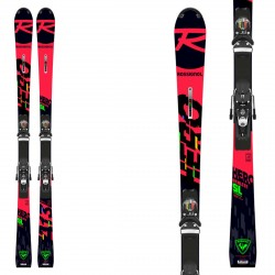 Sci Rossignol Hero Athlete 2021 SL (R22) con attacchi Spx 12 Rockerace Black Icon