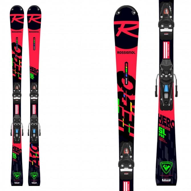 Sci Rossignol da bambino Hero Athlete SL Pro da gara modello 2021 da slalom con attacchi