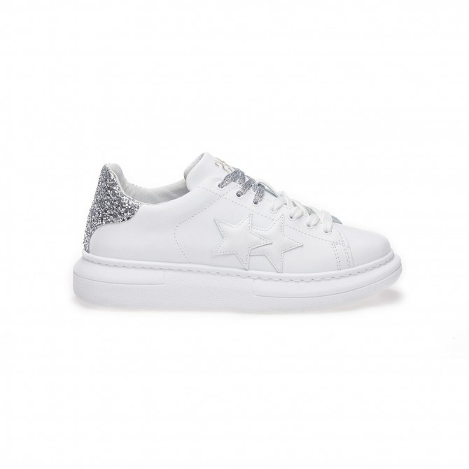 Sneaker 2star Princess Argento