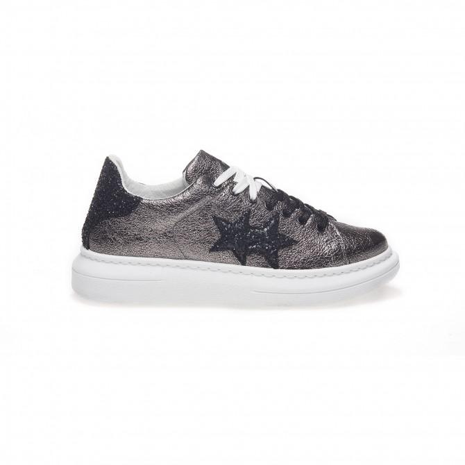 Sneaker Princess Laminato Antracite