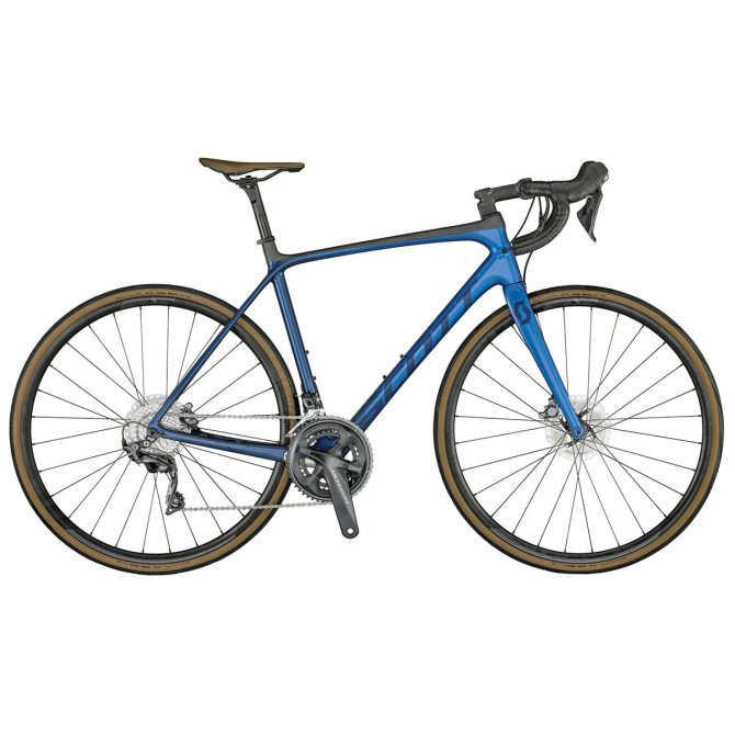 Competir con la bici de Scott Addict 10 Disco de vista previa 2021 azul