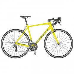 Competir con la bici de Scott Addict 30 2021 vista previa de color amarillo
