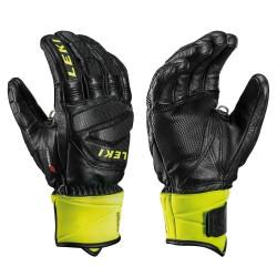 Gants de ski hommes Leki Worldcup course de descente Jaune S Noir