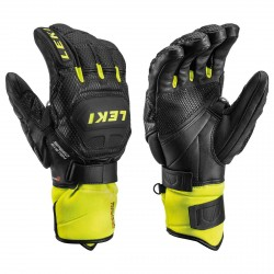 Guanti da sci uomo Leki Worldcup Race Flex S Speed nero giallo