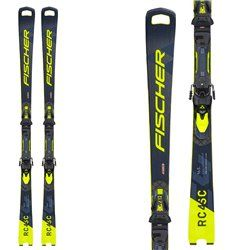 Fischer RC4 WC esquí SC MT con negro amarillo ataques RC4 Z12 PR