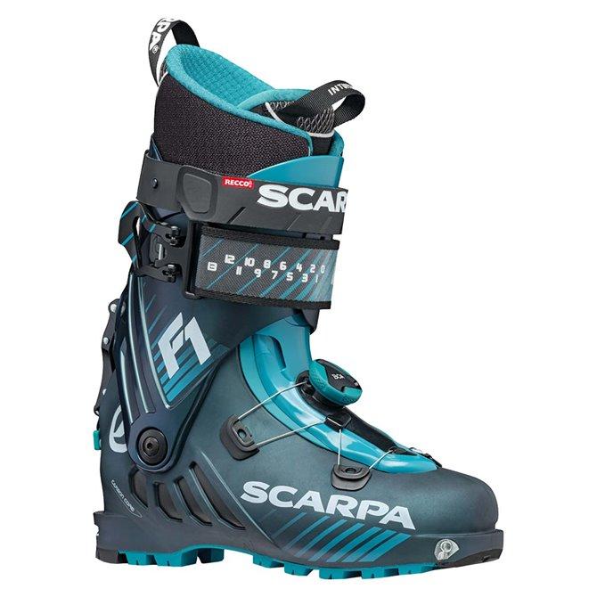 Esquí de montaña botas de invierno Scarpa F1 2021 azulado antracita