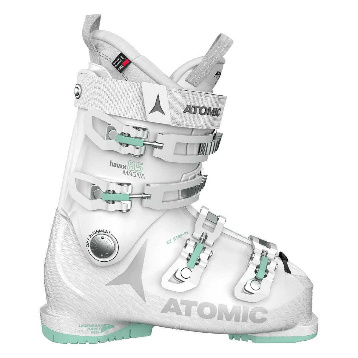 Scarponi sci Atomic Hawx Magna 85 W da donna (Colore: bianco verde, Taglia: 25/25.5)