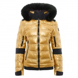 Women's ski jacket Toni Sailer Metallic Tami Fur