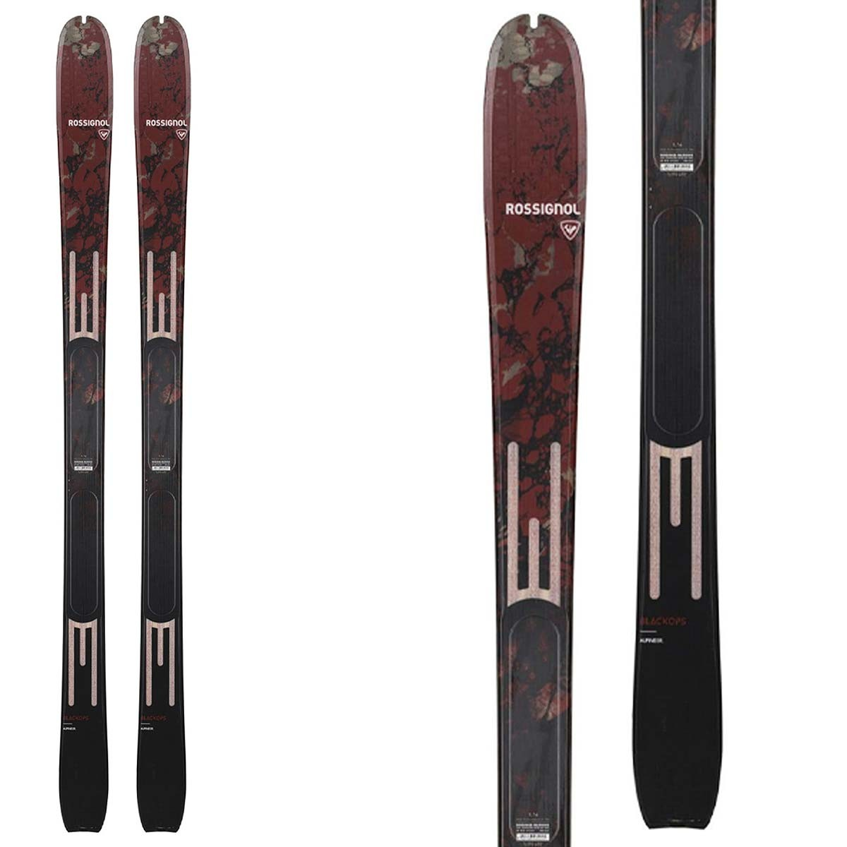 Sci freeride Rossignol Blackops Alpineer (Colore: nero-rosso, Taglia: 168)