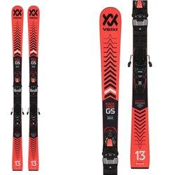 Ski Volkl Racetiger GS R L JR plaque avec des attaques de course 8 noir rouge