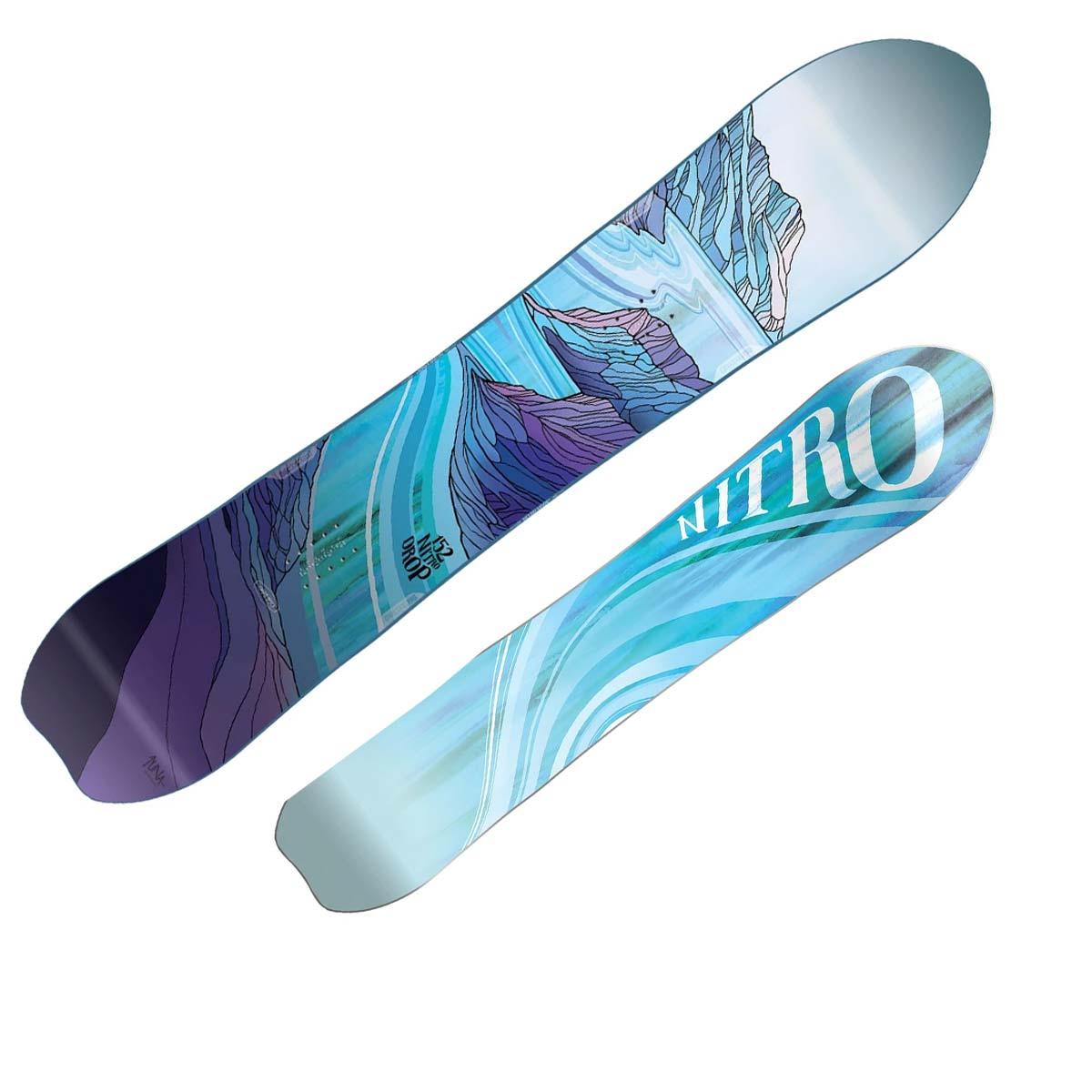 Snowboard Nitro Drop da donna (Colore: fantasia, Taglia: 149)