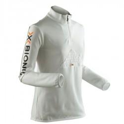 X-Bionic Woman vêtements Beaver Half-Zip Blanc