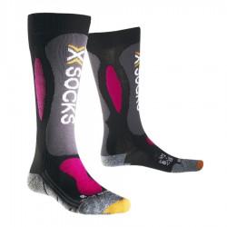 calcetines de esquí X-Socks Carving Silver mujer