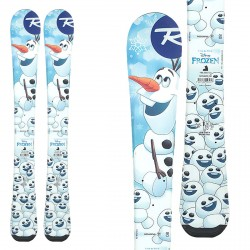 Ski Rossignol Frozen Baby avec des fixations Kid X4