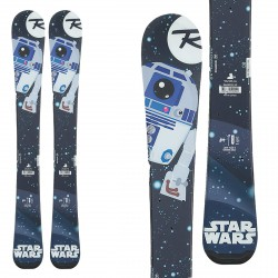 Skiing Rossignol Star Wars Baby with team 4 ski bindings