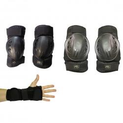 set Emmedue wristguard + elbowguard + kneeguard
