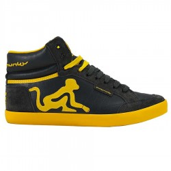 chaussures Drunknmunky Boston Retro noir-moutarde homme