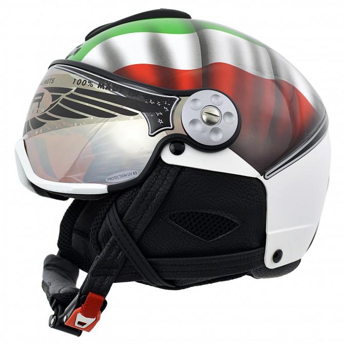Casco sci Hammer H2 Soft Flag Italia + visiera