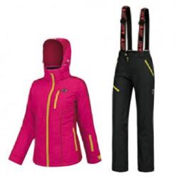 Ski suit Astrolabio A38C Woman fuchsia-black-yellow