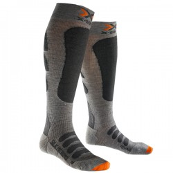 Calze sci X-Bionic Silk Merino Uomo grigio