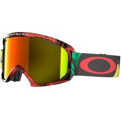 masque snow Oakley O2 XL noir-rouge