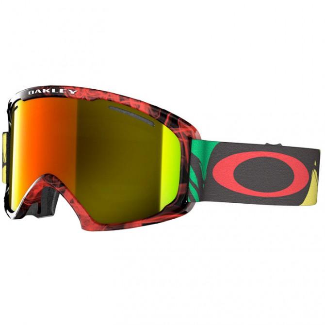 Maschera snow Oakley O2 XL nero-rosso