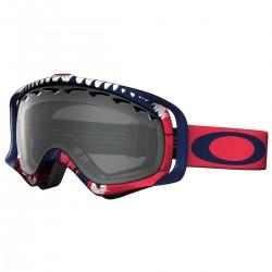 masque snow Oakley Crowbar rouge-bleu