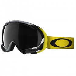 máscara snow Oakley A-Frame negro-amarillo