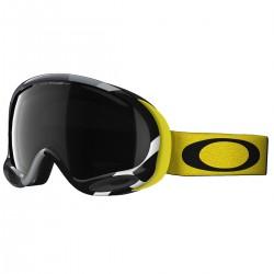 masque snow Oakley A-Frame noir-jaune