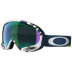 masque snow Oakley A-Frame blanc-bleu