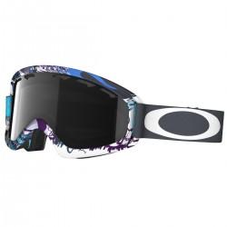 masque snow Oakley O2 XS blanc-pourpre
