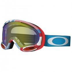 máscara snow Oakley A-Frame blanco-rojo