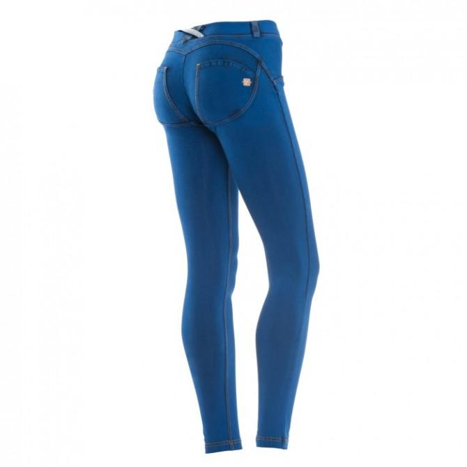Pantalone Freddy Wr. Up Donna effetto denim colorato