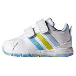 chaussure Adidas Snice 3 Cf I Baby blanc-bleu