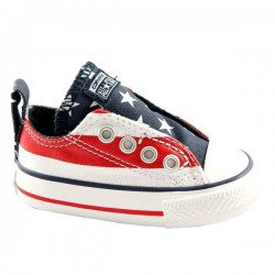chaussures Converse All Star Ox Canvas Graphic Slip Usa Baby