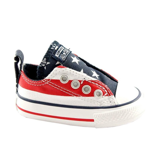 Scarpa Converse All Star Ox Canvas Graphic Slip Usa Baby