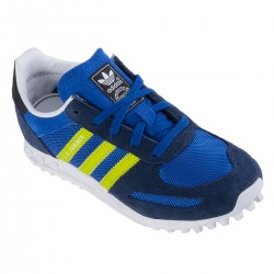 chaussure Adidas La Trainer Junior bleu