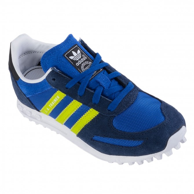 Scarpa Adidas La Trainer Junior blu